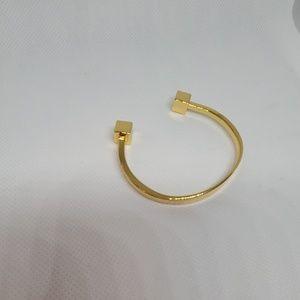 J crew cuff gold cuff bracelet